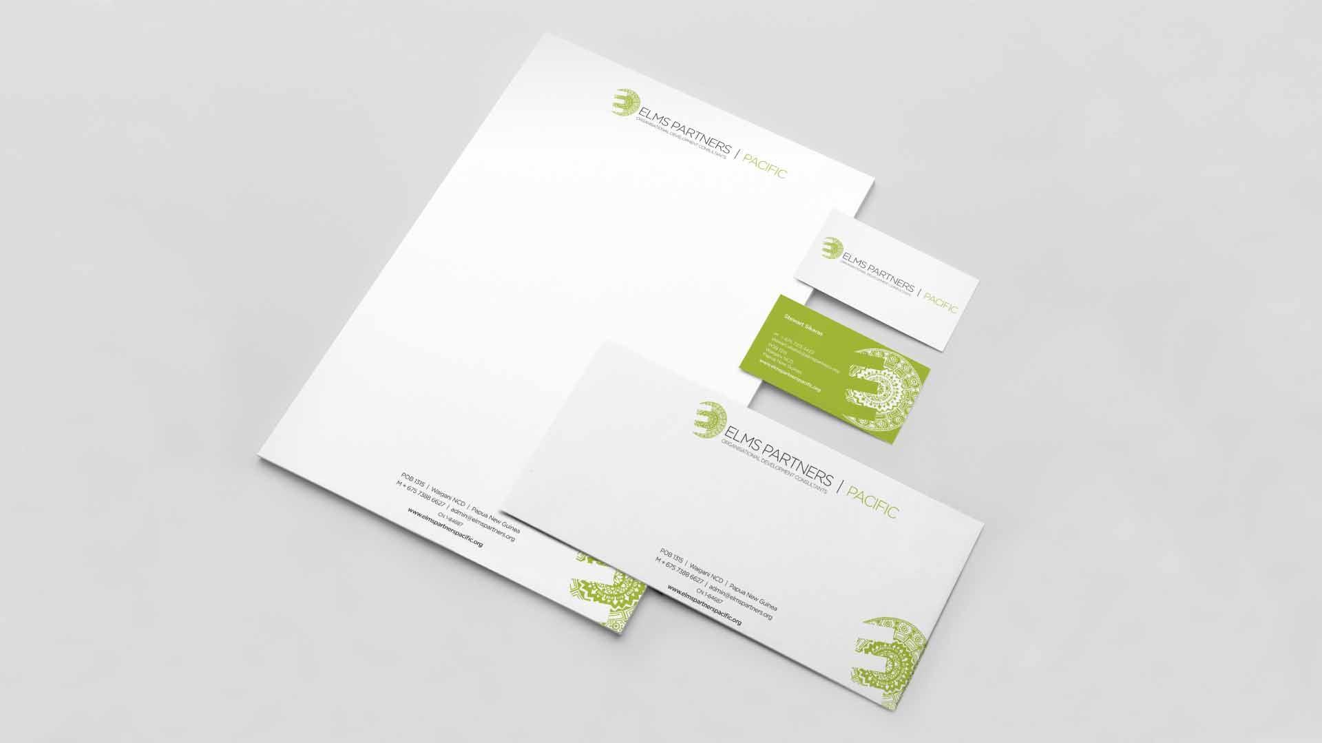 Portfolio - Elms Partners Stationery | StartleArt Graphic Design